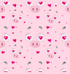 In love piggy pattern vector