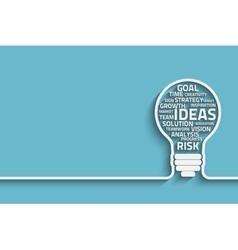 Innovate bulb vector image