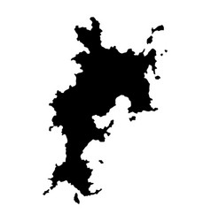 Komodo island mapsilhouette indonesia vector