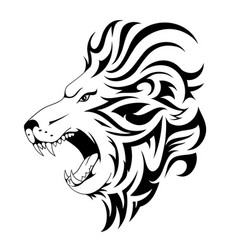 lion tribal tattoo design vector image