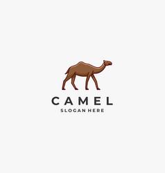 Logo camel cute cartoon vector