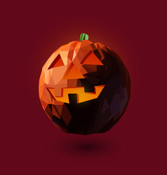 low poly style halloween vector image
