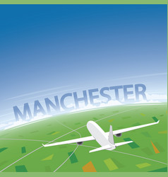 Manchester flight destination vector
