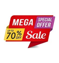 Mega Sale vector image