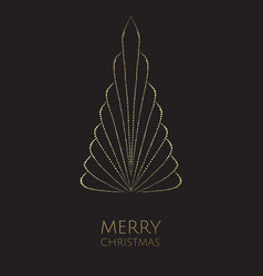 merry christmas and happy new year modern vector image