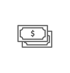 Money dollar outline icon elements business vector