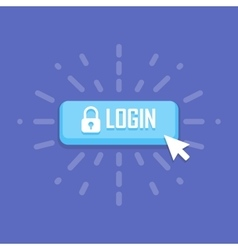 Mouse click on login icon vector image