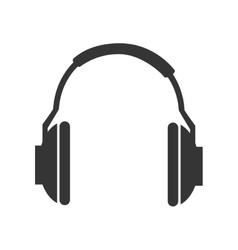 Music headphones technology icon vector