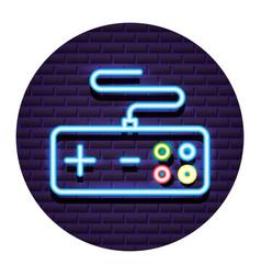 Neon video game vector