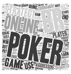 Online poker strategy 1 text background wordcloud vector