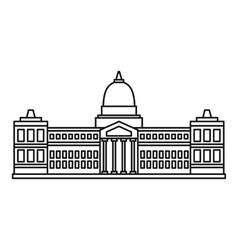 Palace of Congress Buenos icon outline style vector
