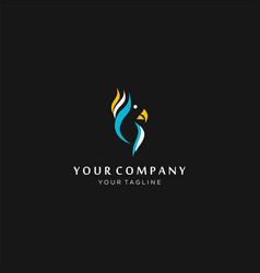 Parrot logo design stock parrot lovebird vector