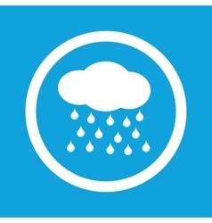Rain sign icon vector