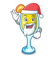 Santa mimosa mascot cartoon style vector