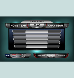 Scoreboard elements football vector