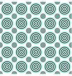 Seamless geometric circle pattern background vector