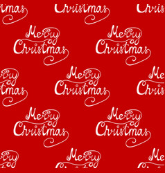seamless pattern congratulation on a merry vector image