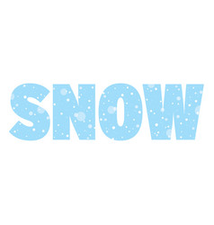 Seasonal banner with word snow snowing concept vector