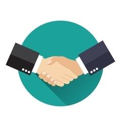 Shake hand flat icon vector