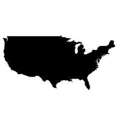 simple only sharp corners map united states vector image