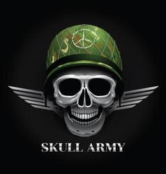 skull logo soldier vector image