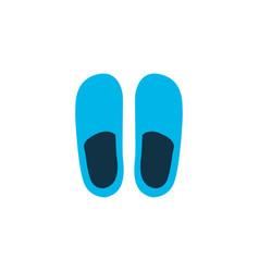 slippers icon colored symbol premium quality vector image