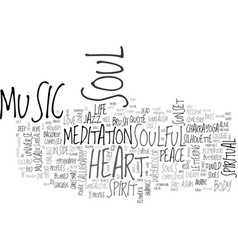Soulful word cloud concept vector