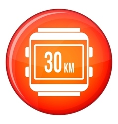 Speedometer bike icon flat style vector
