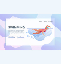 sport activities flat swimming pool vector image