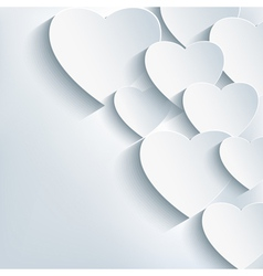 Stylish creative abstract background 3d heart vector image