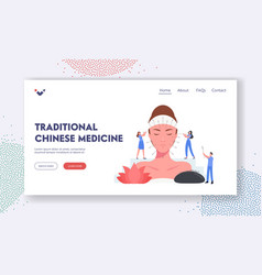 traditional chinese medicine landing page template vector image