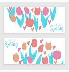 Tulip pink vector