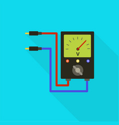 Volt meter icon flat style vector
