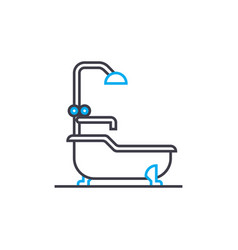 water procedures linear icon concept water vector image