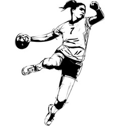 woman handball vector image