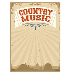 Country music festival background with american vector image vector image