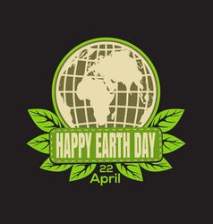 earth day logo icon vector image vector image