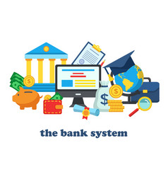 icons for the banking system vector image vector image