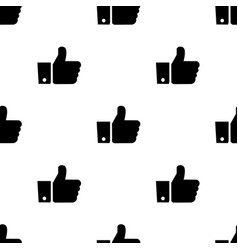 seamless pattern with like black silhouette flat vector image