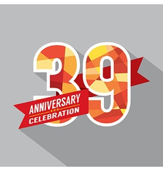 39th years anniversary celebration design vector