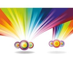 falling rainbows vector image