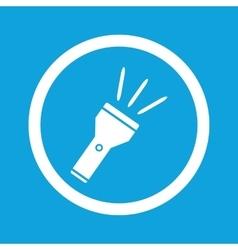 Flashlight sign icon vector image vector image