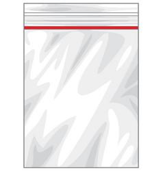 plastic zipper lock bag vector image