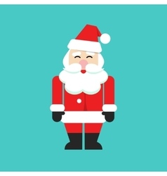 Santa claus isolated person flat cartoon vector image