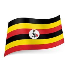 State flag of Uganda vector image vector image