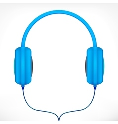 Blue headphones vector image