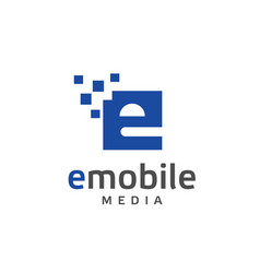 creative letter e rectangle logo vector image vector image