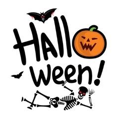 Halloween skeleton Cartoon vector image vector image