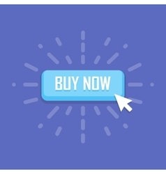 Mouse click on buy now button icon vector image vector image