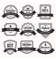 retro vintage badges vector image vector image
